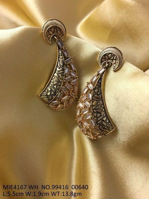 Brass+ Semi Precious Stone Dangler