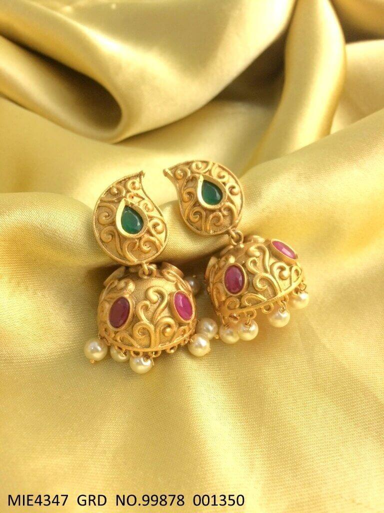 Brass + Gold Plated Jewelry with an year warranty