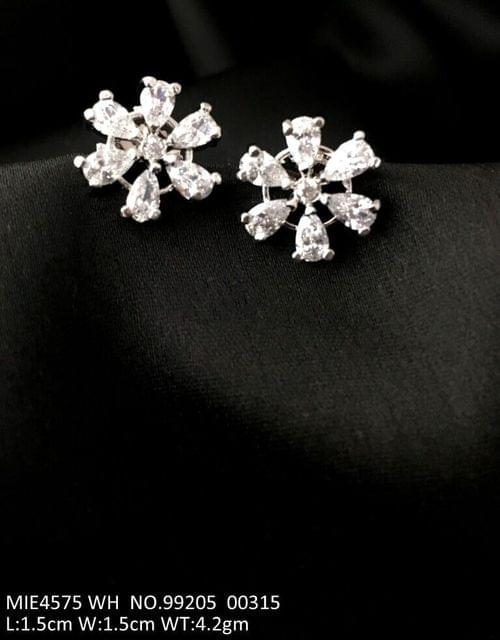 American Diamond stud with an year warranty