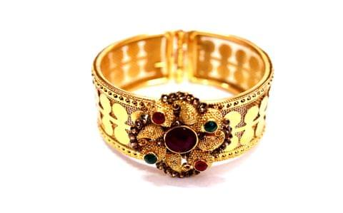 Brass+ Gold Plated Kada with an year warranty