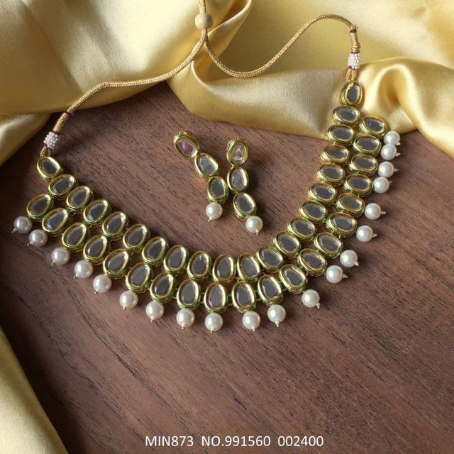Double layered Kundan Necklace with an year warranty
