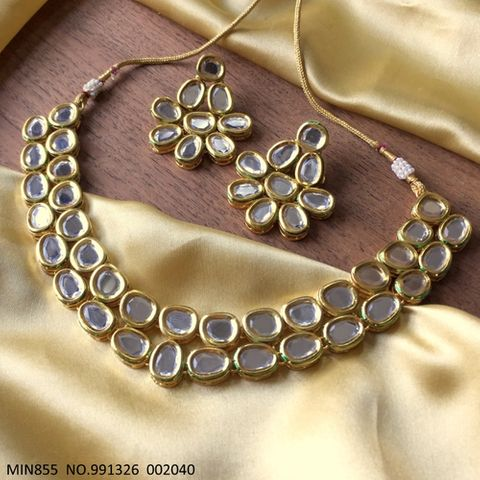 Kundan Necklace with an year warranty