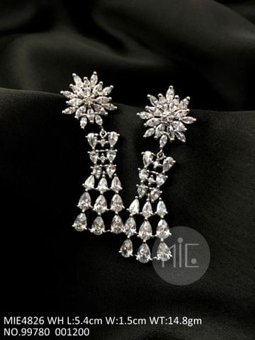 Buy this Beautiful pair of american diamond earring with precious stone