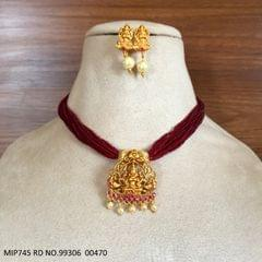 Gold Plated  Pendant set studded with semi precious stone