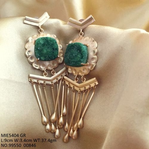 High Class Dangler with high class stone and brass