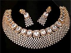 Pure American Diamond Necklace with beautiful Pair of Jhumka/Earrings
