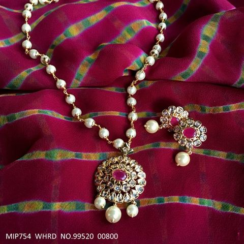 Beautiful Pendant set coupled with Semi Precious Stone . It is coupled with pair of beautiful Jhumki