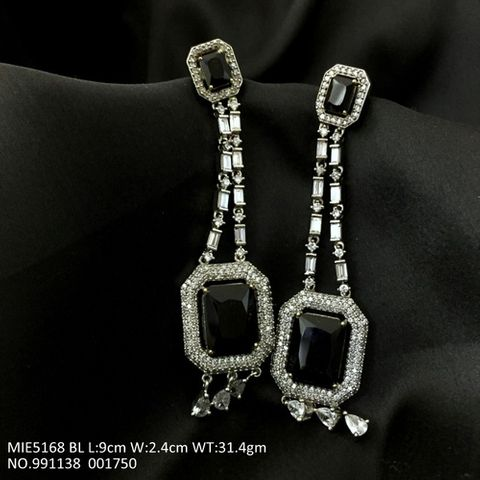 American Diamond Dangler with semi precious stone and pearl- 1 year warranty