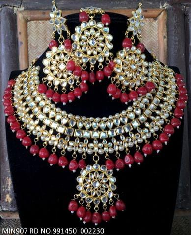 Beautiful Necklace set with pair of Beautiful jhumka