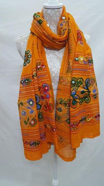 Original Kutch Worked Handmade/Handworked Dupatta- Fabric Cotton