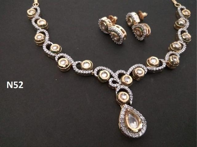 American Diamond Necklace Set,with beautiful pair of earrings