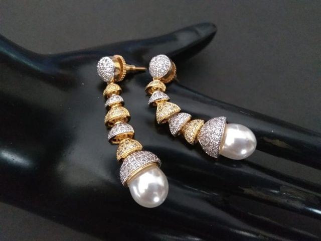 American Diamond Earrings with an year warranty