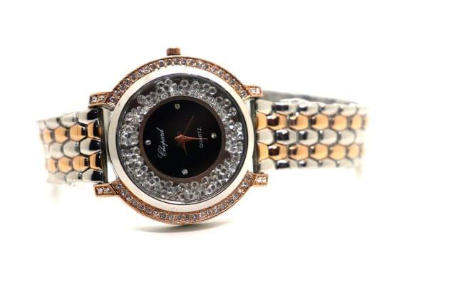 Buy this beautiful watch studded with diamonds . It has 1 year warranty