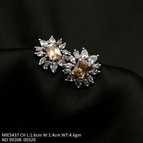 American Diamond Studs with an year warranty