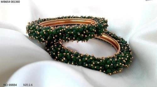 Brass+ Gold Plated+ Ad Studded bangle with an year warranty