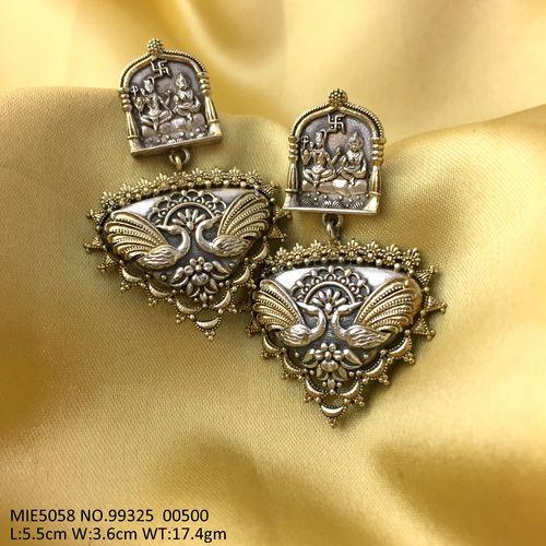 German Silver- Oxidized earring with an year warranty