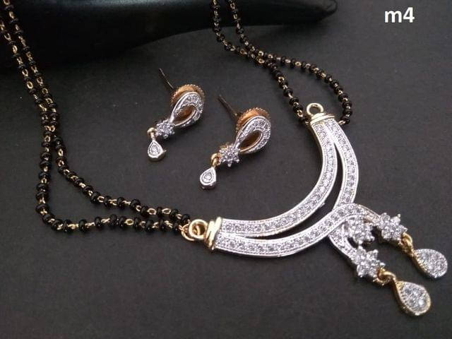 Beautiful and elegant American Diamond Mangalsutra Set