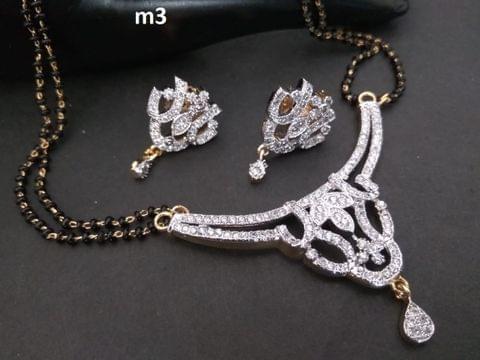 Beautiful and elegant American Diamond Mangalsutra Set