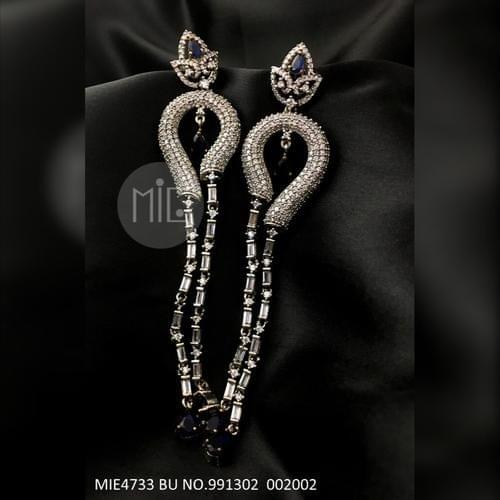American Diamond Dangler with an year warranty with Semi Precious Stone
