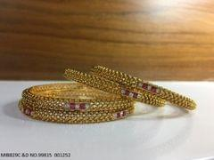 High Class Bangles- Brass+ Gold plated - 1 year warranty-- 4 bangles