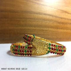 High Class Bangles- Brass+ Gold plated - 1 year warranty-- 2 bangles