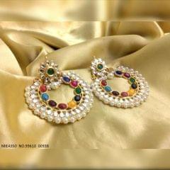 Colorful matching Traditional Navratna Chanbali