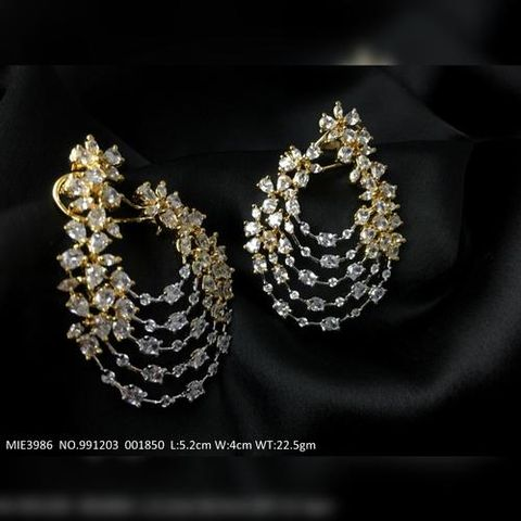 American Diamond Dangler -  Length is 5.2 cm, width is 4.0 centimeter