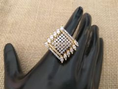 American Diamond Finger ring with an year warranty