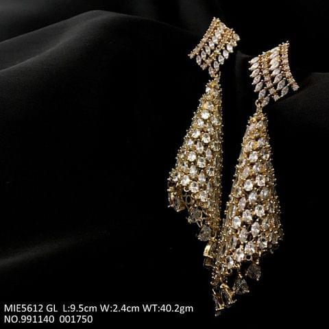 Beautiful pair of American diamond Danglers with an year warranty