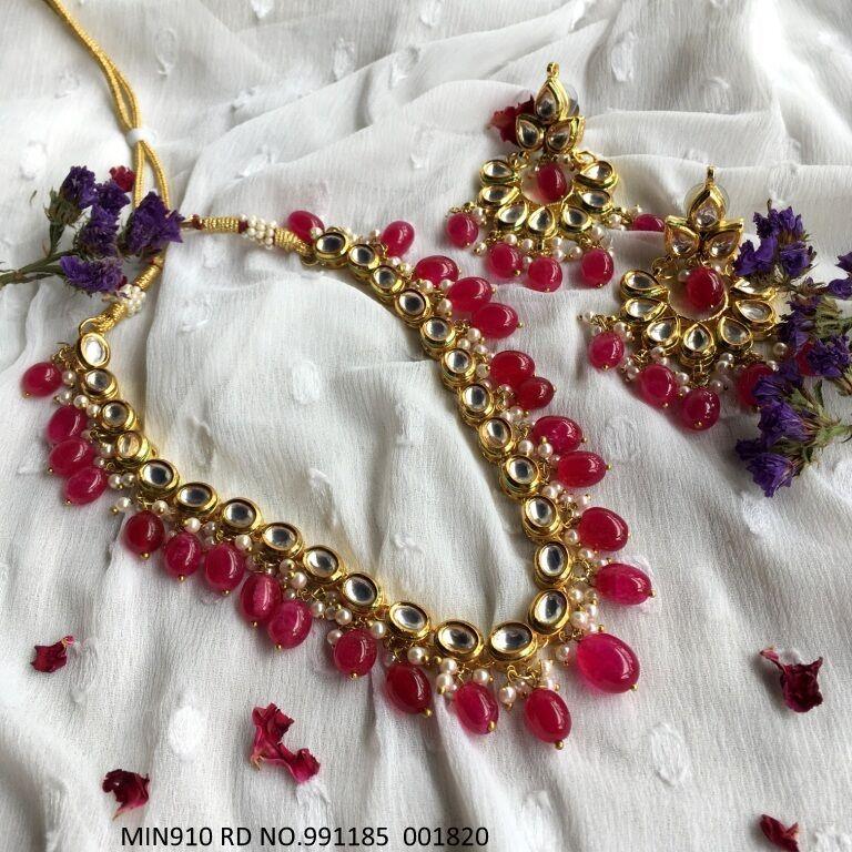 High quality Kundan Necklaces with Precious Stones