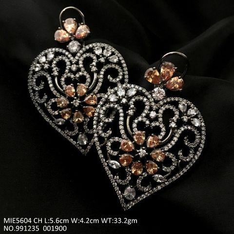 Beautiful pair of American diamond Danglers with an year warranty