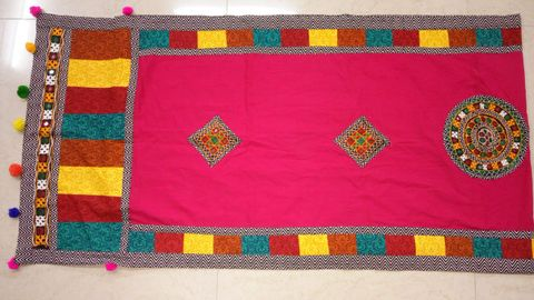Original Kutch worked Dupatta - Hand-worked