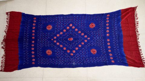 Bandhej Staple Dupatta with an year warranty