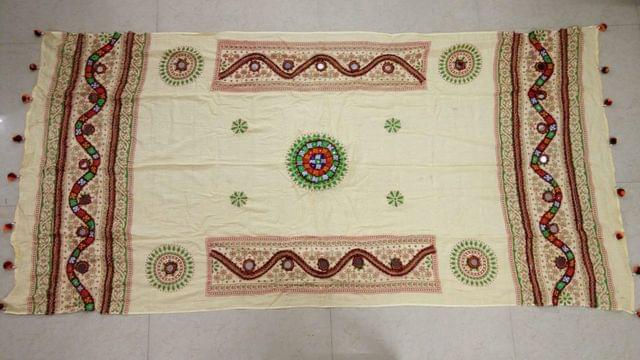 Original Kutch worked dupatta with finest quality of Handwork. Kutch work is globally recognized part of art, and is much liked by every fashion lover