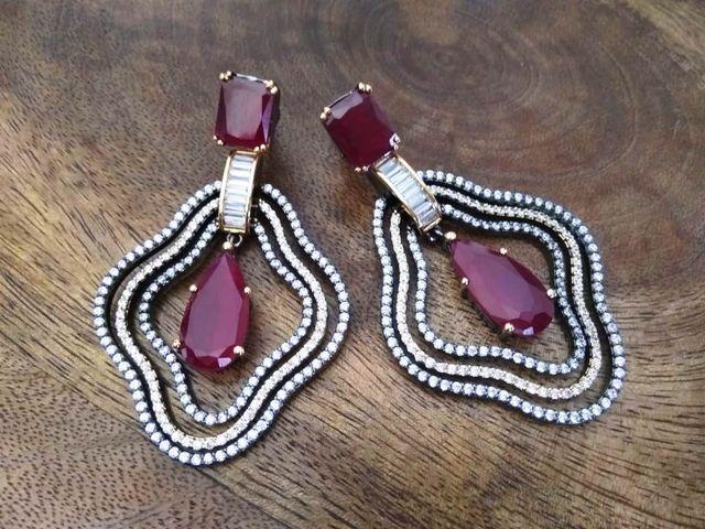 American Diamond earring/Dangler with an year warranty