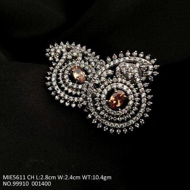 Beautiful pair of American diamond earrings with an year warranty