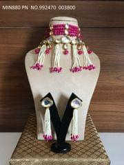 Kundan + Precious Pearl + Precious Beads necklace