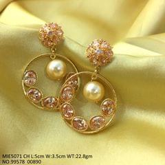 Beautiful pair of earrings- Brass+ American Diamond Earrings