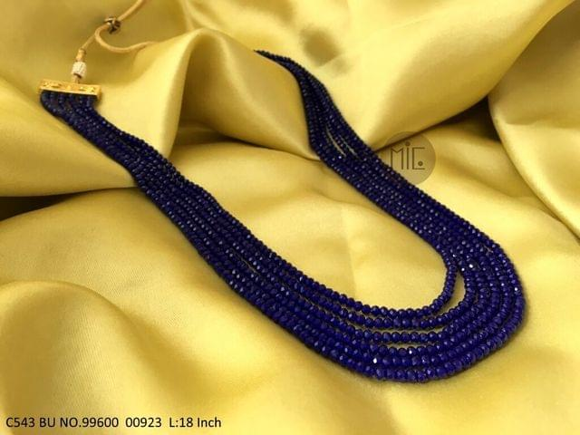 Synthetic hydro crystal stone necklace with an year warranty