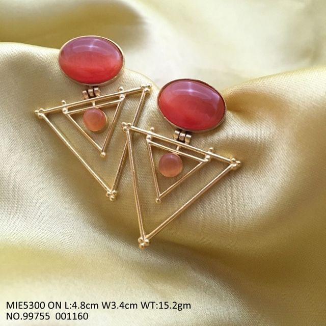 Brass + Semi Precious Stone Dangler