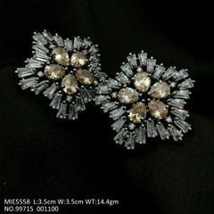 Brass+ American Diamond Earring with an year warranty