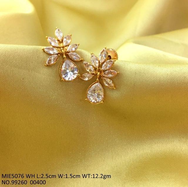 American Diamond Studded Earrings with an year warranty