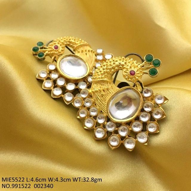 Brass+ Gold plated+ Kundan Stones with an year warranty