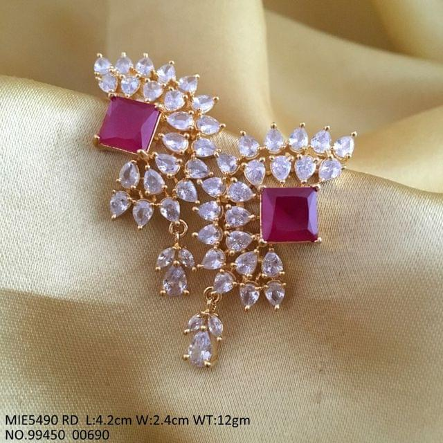 Brass+ American Diamond Earring
