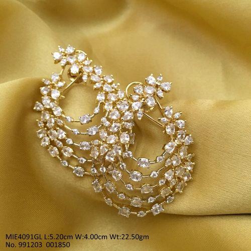 American Diamond Dangler-  Length is 5.2 cm, width is 4.0 centimeter