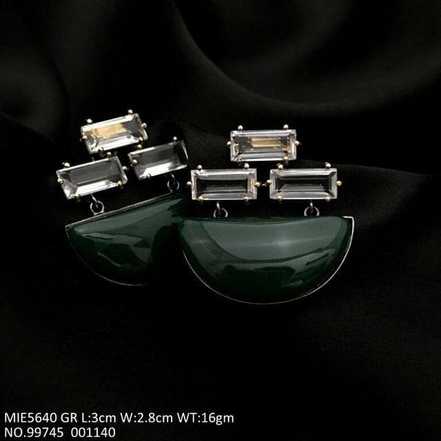Brass+ Semi Precious Stone Earrings
