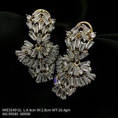 Brass + American diamond jhumki with an year warranty