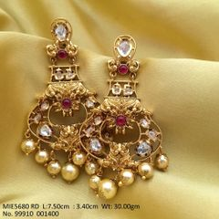 High quality Brass earring Antique Matt Gold 1 gram plating