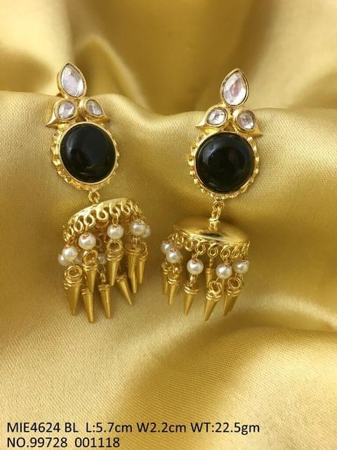Kundan Stones studded, Gold plated Dangler with an year warranty