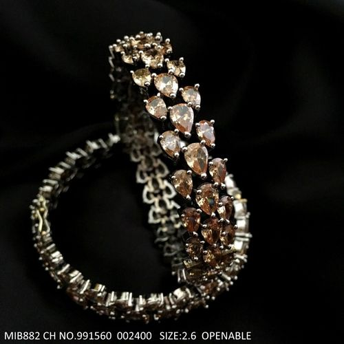 Brass, Ad Studded banglewith an year warranty